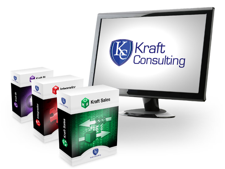 Produtos Kraft Consulting - Kraft Sales, Integrador e Kraft BI